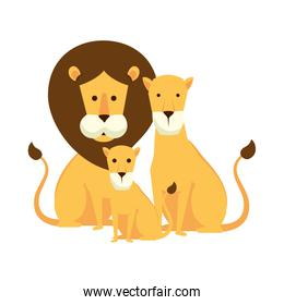 african lions family characters