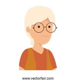 old woman character icon