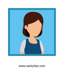 picture of young woman character