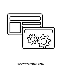 credit card with gears