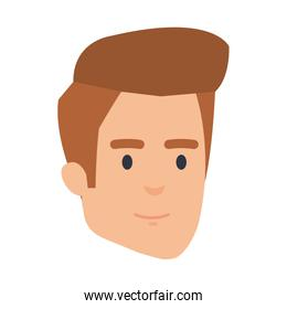 young and casual man head character
