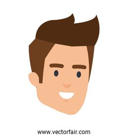 young man head character