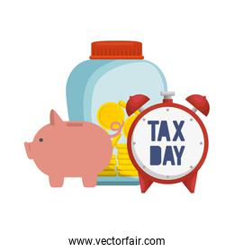 tax day business icons