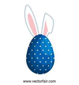 egg painted with rabbit ears easter icon