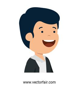 happy young man character