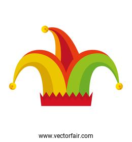 jester hat fools day icon