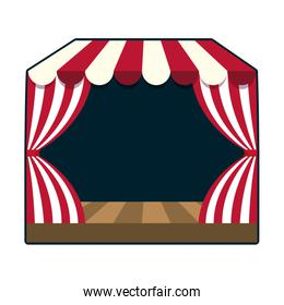 circus podium isolated icon
