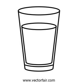 drink in glass line style icon