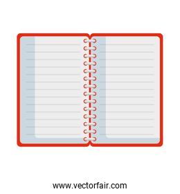 notepad office isolated icon