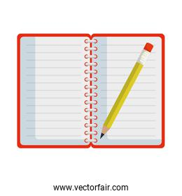 notepad office with pencil