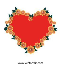 floral decoration with heart shape