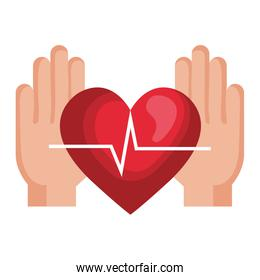 hands with heart cardio