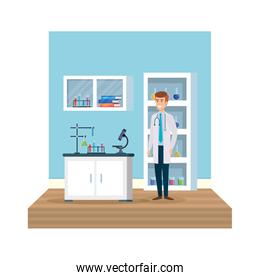 professional doctor in workplace avatar character