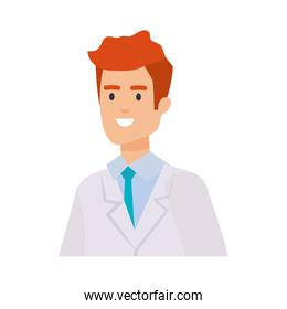 professional doctor avatar character