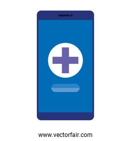 smartphone with medical cross telemedicine