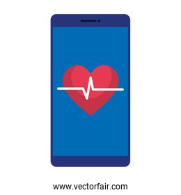 smartphone with heart cardio