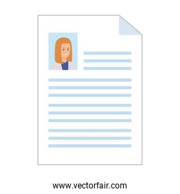female doctor curriculum vitae document