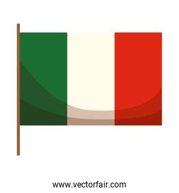 mexican flag isolated icon