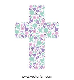 first communion cross floral decoration
