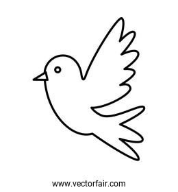 cute dove flying icon