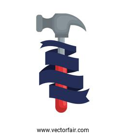 hammer tool with ribbon