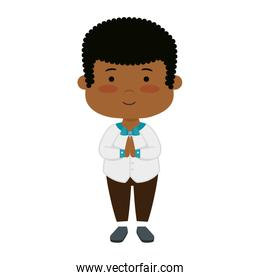 little afro boy first communion character