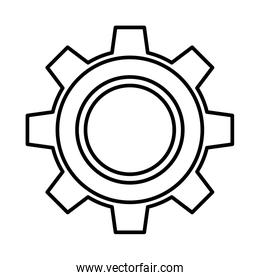 gear settings isolated icon