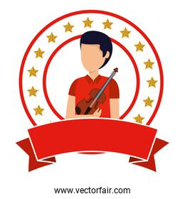 professional violinist avatar character