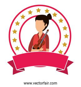 female professional violinist character