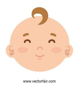 little male baby head character