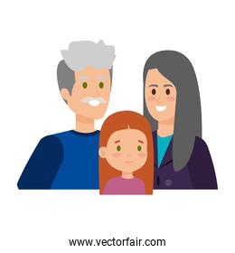 cute grand parents couple with grandaughter
