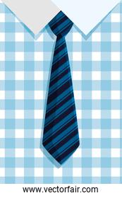shirt and elegant tie with lines