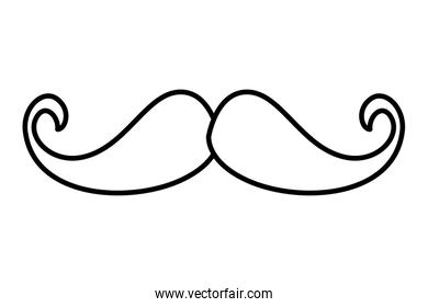 classic mustache hipster style
