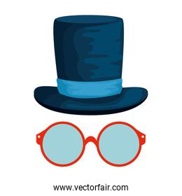 eyeglasses with tophat hipster style