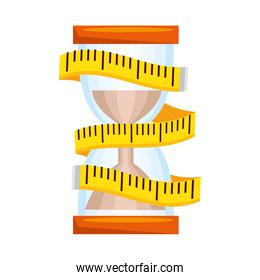 tape measure with hourglass