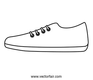 sport shoe isolated icon
