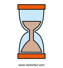 hourglass timer isolated icon