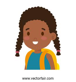 little african girl isolated icon