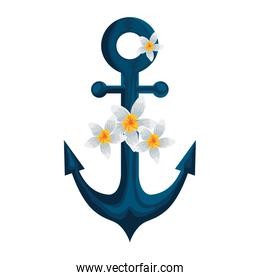 anchor ship with beautiful flowers
