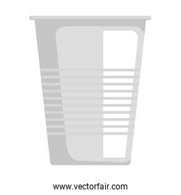 disposable cup material icon vector illustration