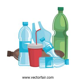 plastic and disposables products garbage