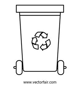recycle waste with recycle arrows