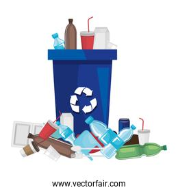 recycle waste with plastic products