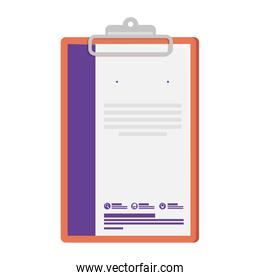 checklist with commercial emblem print