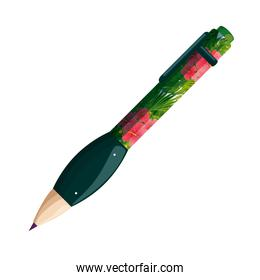 pen write ink with tropical fauna print