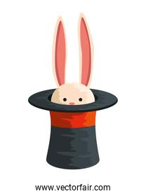 circus wizard hat with rabbit