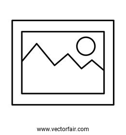 picture file format icon vector illustration