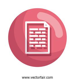 paper document file icon vector illustration
