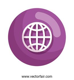 sphere planet browser icon vector illustration