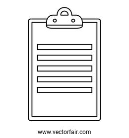 clipboard checklist document isolated icon